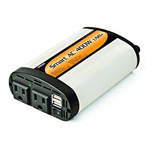 Wagan EL2003-5 SmartAC 400 Watt Continuous Power Inverter with 5V 2.1 Amp USB Charging Ports - $21.21 w/Prime