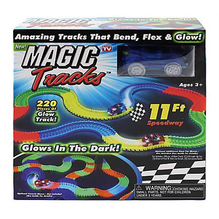 YMMV - Magic Tracks Glow-In-The-Dark Racetrack, Multicolor, 220pc, 11ft - $5 , FS @ $9.99
