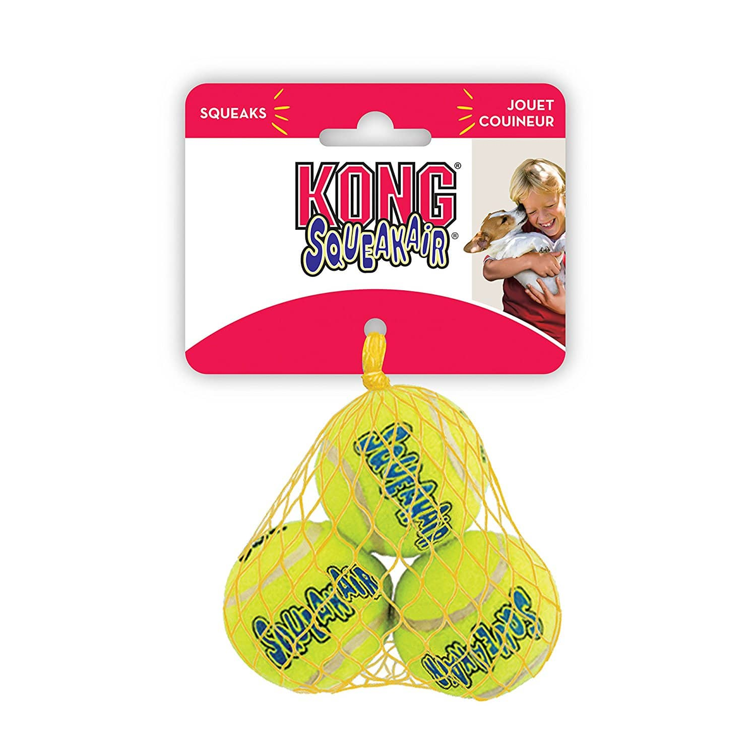 "Kong Air Squeaker Tennis Balls, Extra Small  (1.5"") - $1.49 + FS w/Prime"