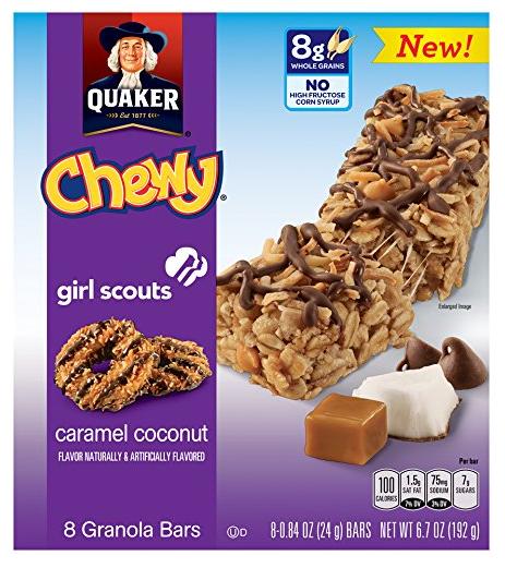 Quaker Girl Scouts Caramel Coconut Chewy Granola Bars, 6.7 Ounce - $2 + FS w/Prime