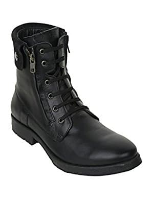 Liberty Men's Genuine Leather Lace Up Zipper Winter Ankle Boots 1.5 inch Heels, Size 13 - $10.93 + FS w/Prime