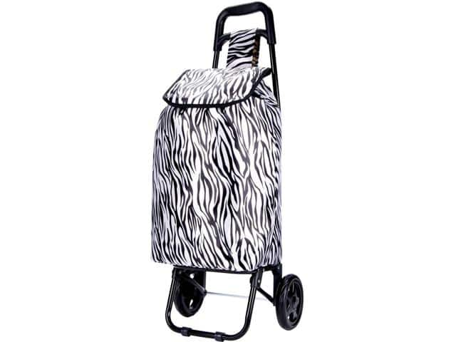 Laundry Pod Wheeled Shopping/Laundry Carts, Giraffe or Zebra Print - $5.99 + FS