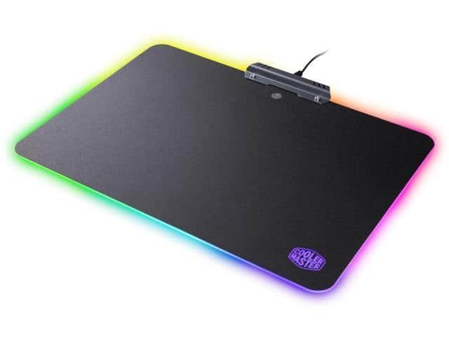 Cooler Master Hard Surface Gaming Mousepad w/ RGB LED Lighting $15 AR $14.99