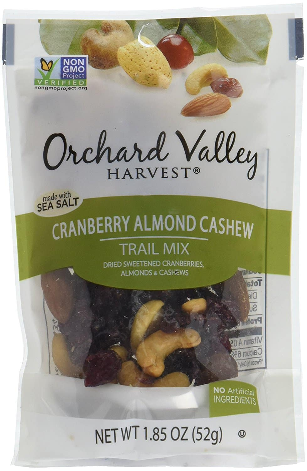 14-Pack 1.85oz Orchard Valley Cranberry Almond Cashew Trail Mix $12.20