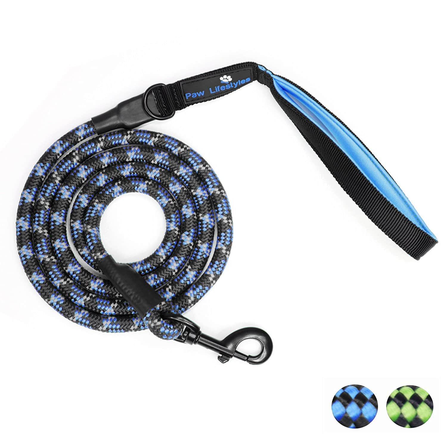 6' Heavy Duty Rope Dog Leash with Reflective Threading $1.99 + Free Prime Shipping