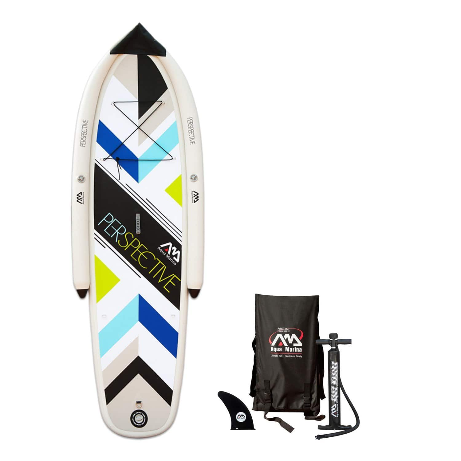 9' 9 inch Aqua Marina Beginner Inflatable Stand-up Paddle Board (up to 176lbs) $99 AC + Free Shipping