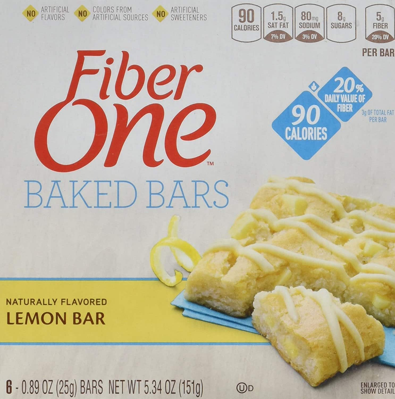 48-Count Fiber One 90 Calorie Lemon Bars (0.89oz) $10 AC w/S&S + Free S&H