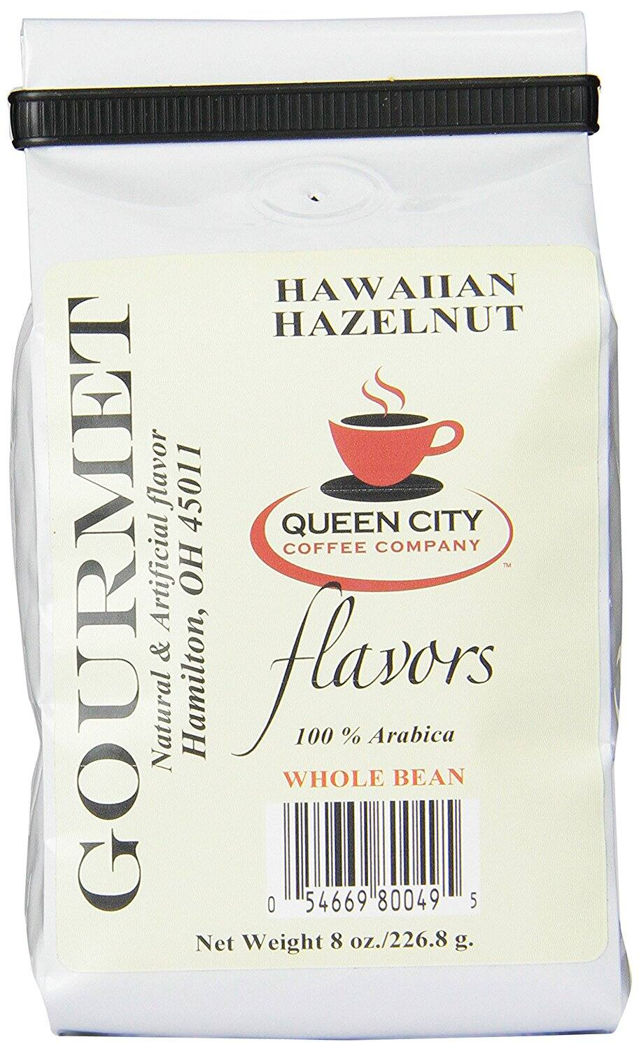 24-Ounce Queen City Hawaiian Hazelnut Whole Coffee Beans (3x 8oz bags) $7.86 w/ S&S + Free Shipping