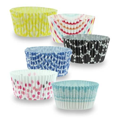 """150-Count 2"""" Hanna K. Signature Elements Baking Cups (Multicolor) $1.97 + Free Prime Shipping"""