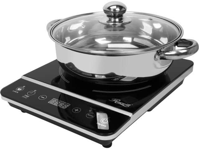 Open Box: Rosewill RHAI-13001. 1800-Watt Induction Cooker Cooktop w/ Stainless Steel Pot for $22.39 AC + Free Shipping