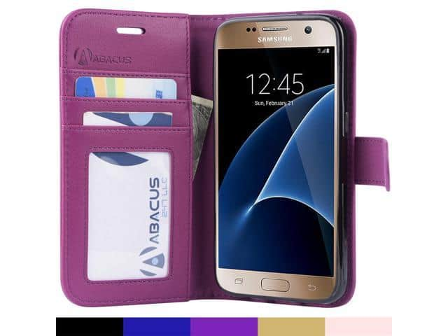 Abacus24-7 Galaxy S7 Flip-Cover Case (Purple) for $0.01 + Free Shipping