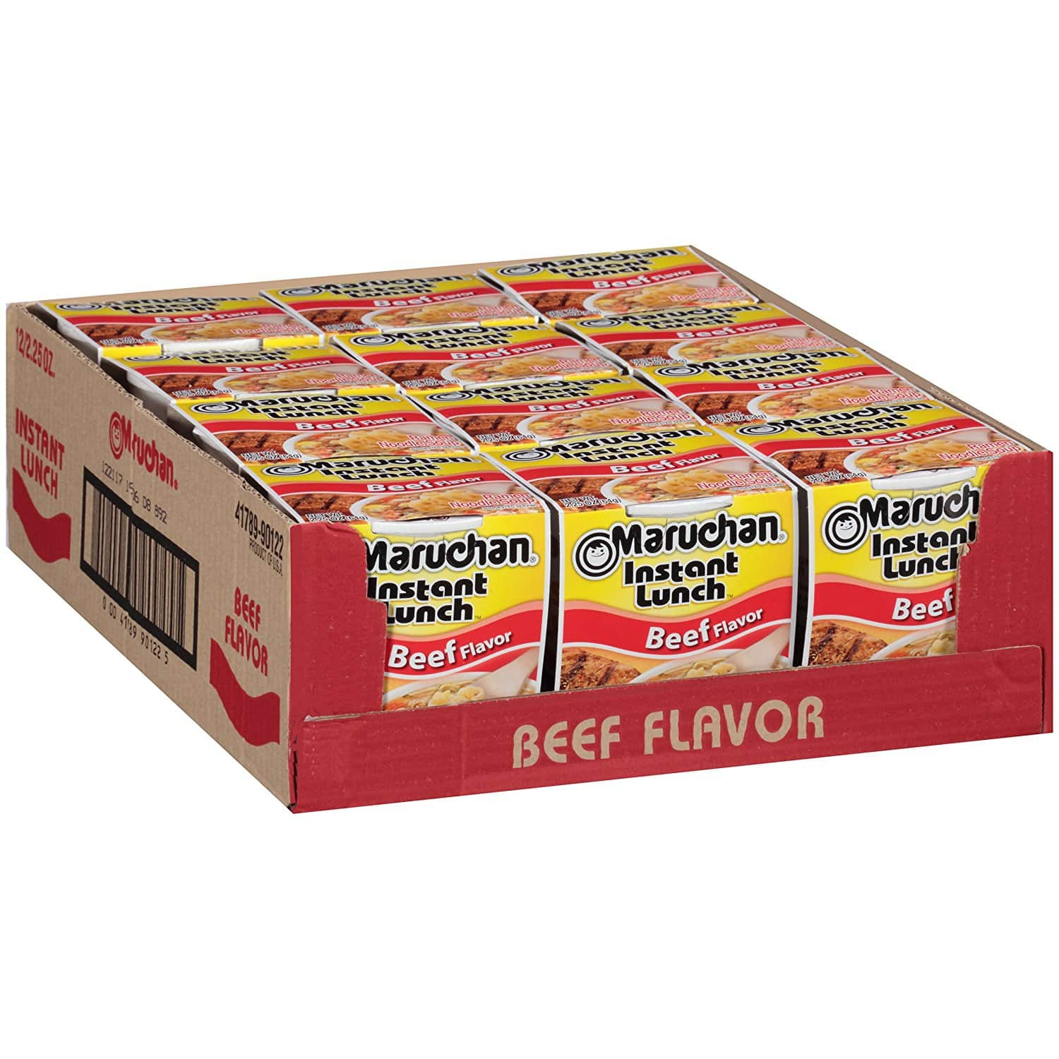 12-Pack Maruchan Cup Noodles (Beef) for $3.48 + Free Prime Shipping