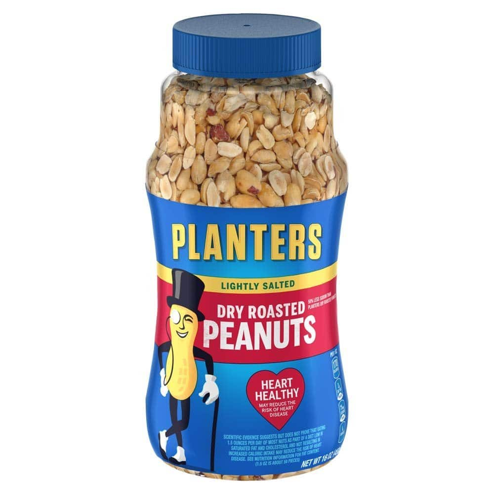 2-Pack 16oz Planter's Dry Roasted & Lightly Salted Peanuts for $4 AC w/ S&S + Free S&H