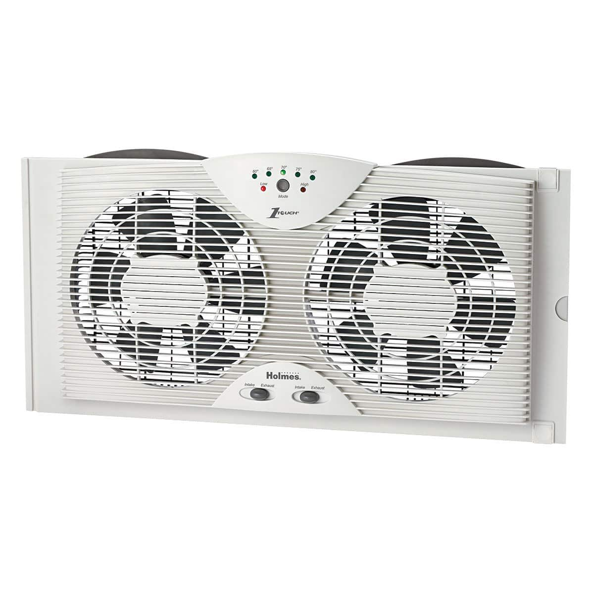 Holmes Electronically Reversible Twin Window Fan HAWF2043-N for $30.79 AC + Free S&H