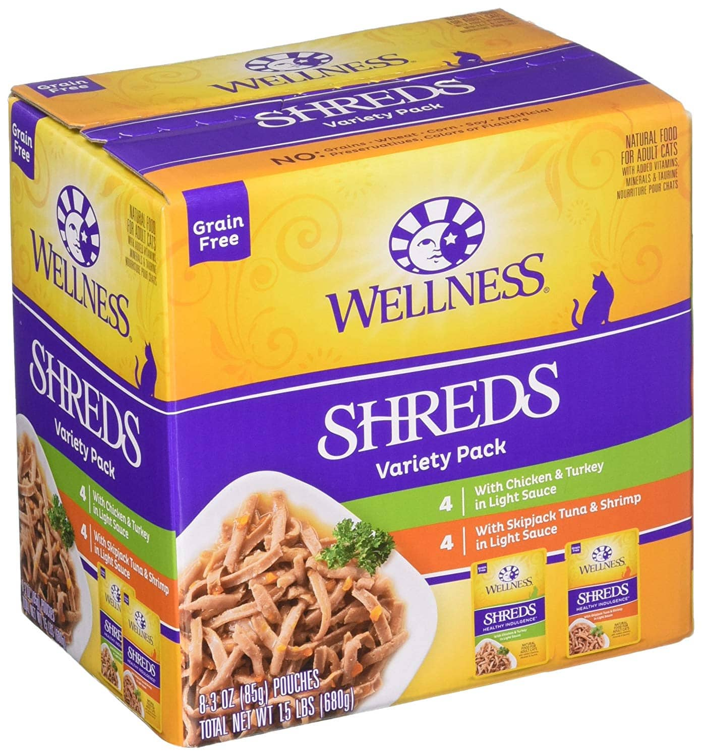 Temp OOS / YMMV: 24-Pack 3oz Wellness Healthy Indulgence Natural Grain Free Wet Cat Food Pouches for $9.99 + Free Prime Shipping
