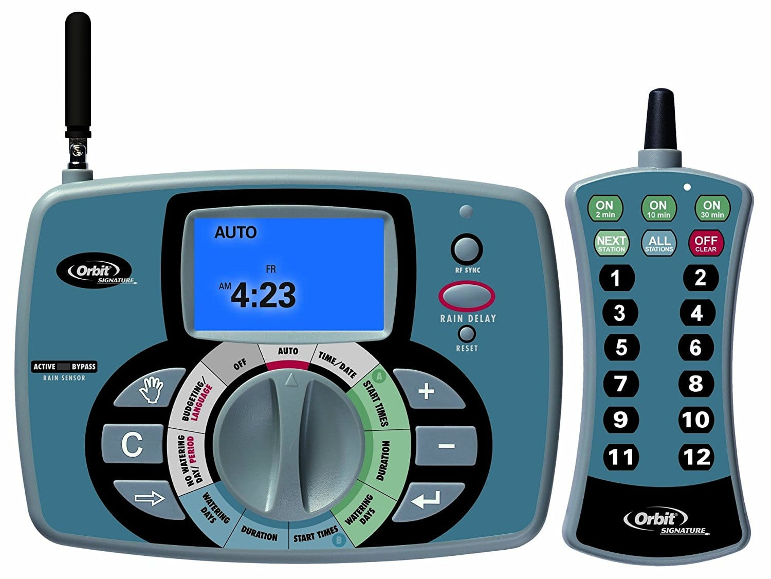 Orbit 12-Station Remote Control Sprinkler System Timer for $20 AC + Free Shipping