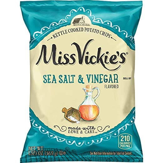 Prime Members: 64-Count 1.375oz Miss Vickie's Sea Salt & Vinegar Kettle-Cooked Chips for $24.24 w/ S&S + Free S&H