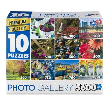 10-in-1 Photo Gallery Jigsaw Puzzle Pack (5,600 Pieces Total) for $7.99 + Free Store Pickup