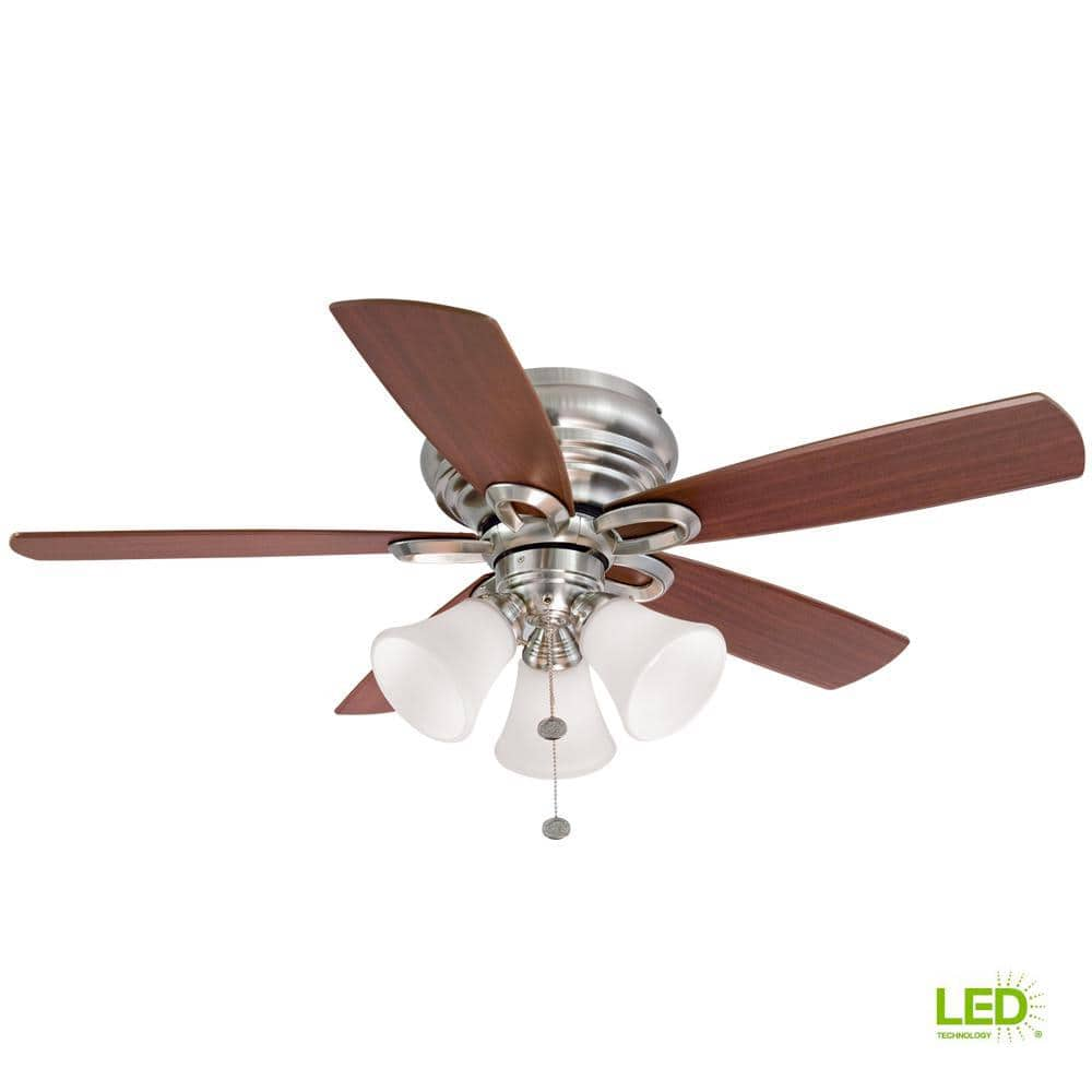Ceiling Fans w/ Light Kits: Hampton Bay Maris 44