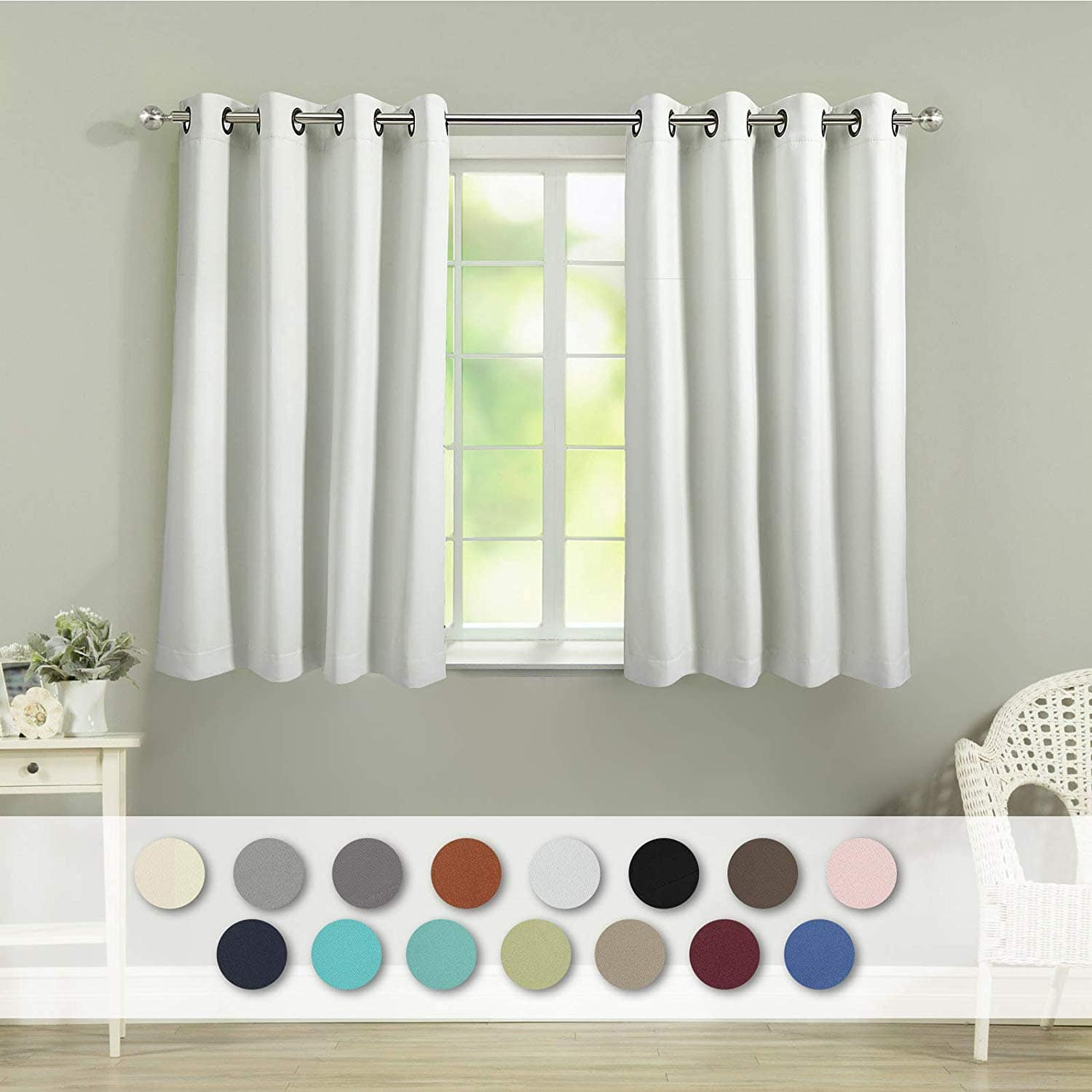 VEEYOO Thermal Insulated Blackout Curtains (2 Panels, 52\