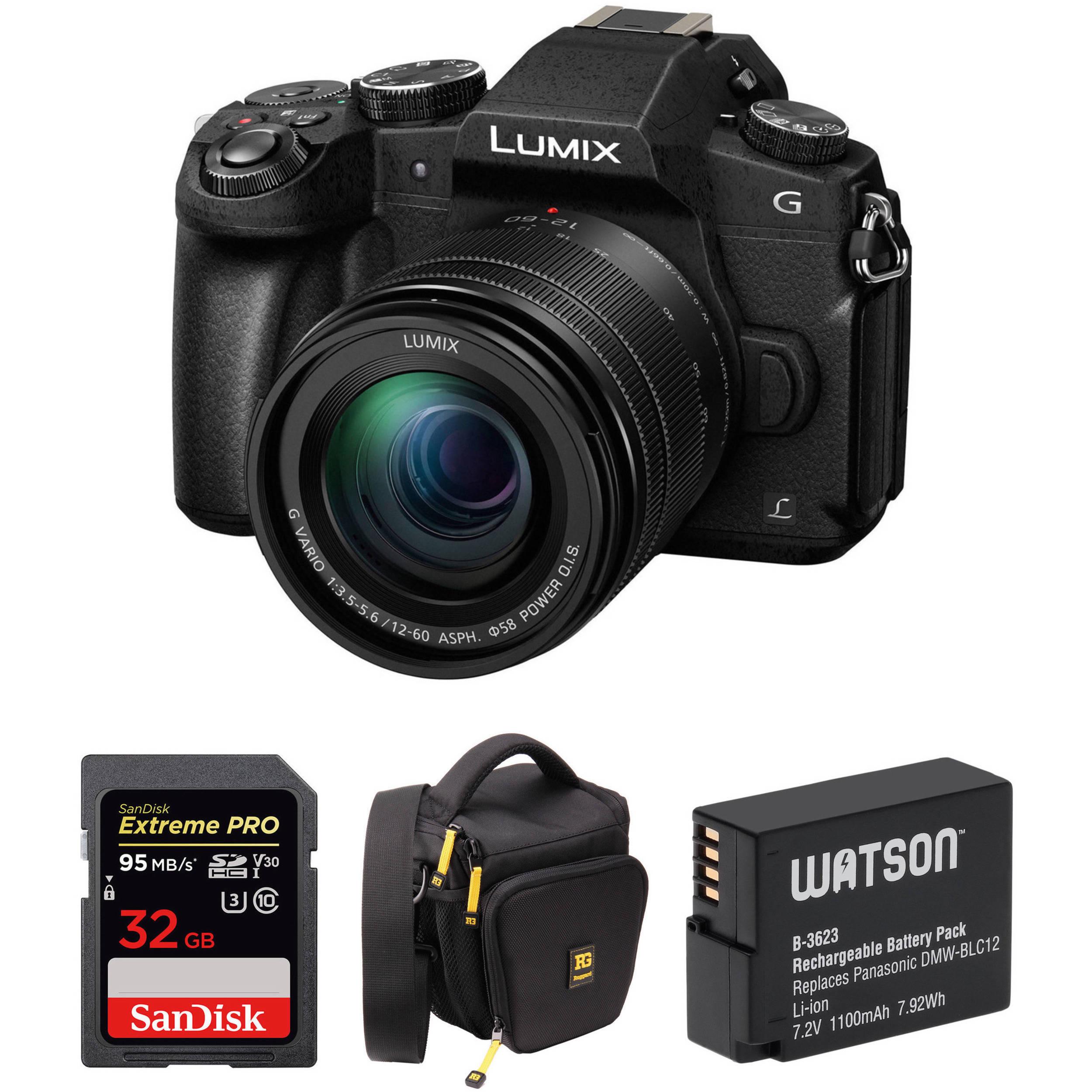 Panasonic LUMIX G85 4K Mirrorless Camera w/ 12-60mm Lens Kit