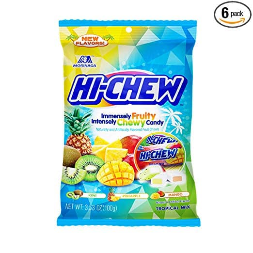 6-Pack 3.17 to 3.53oz Hi-Chew Chewy Japanese Fruit Candy (Various Flavors) From $9.86 AC + Free Prime Shipping