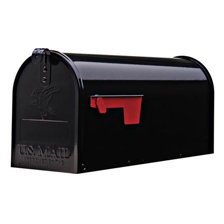 Gibraltar Elite 800 Cu. In. Medium Galvanized Steel Post-Mount Mailbox (Black) $13.97 + Free Store Pickup