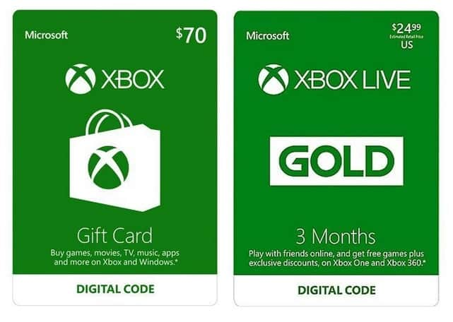 $70 Xbox Gift Card + 3-Month Xbox Live Gold Membership (Email