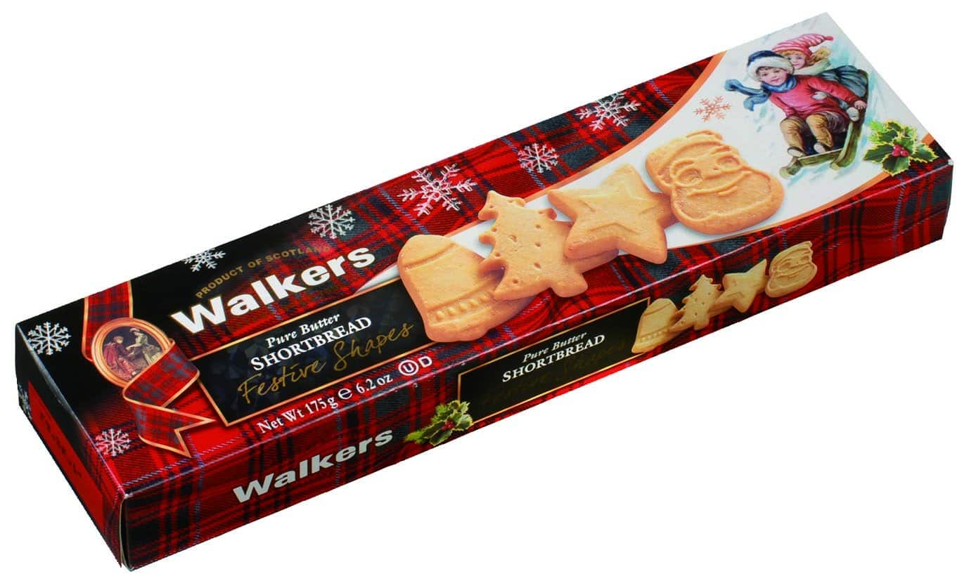 4 Pack 6 2oz Walkers Shortbread Festive Shapes Cookies 6 28 W S S