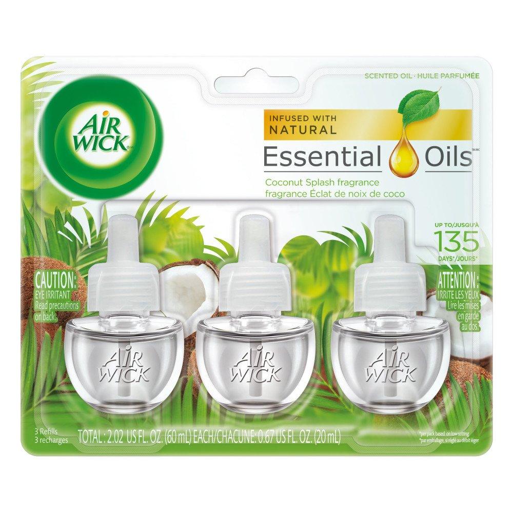 3-Pack Air Wick Scented Oil Coconut Splash Fragrance Refills $1.43 w/ S&S