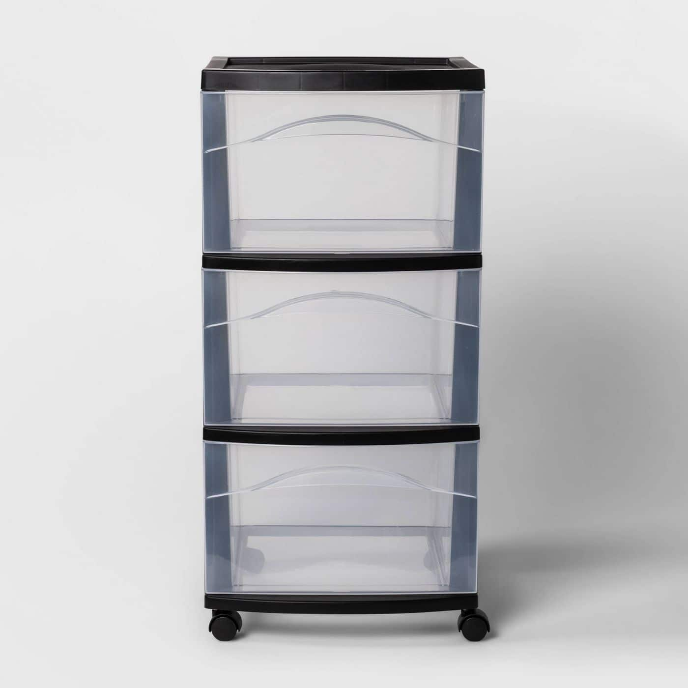 Room Essentials 3-Drawer Medium Wheeled Cart (Black or White) 3 for $20 + Free Store Pickup & More