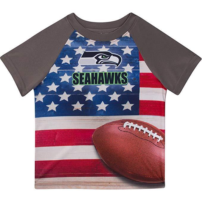 Seattle Seahawks Kids Unisex Short-Sleeve Tee (Gray, 2T) $1.86 + Free Prime Shipping