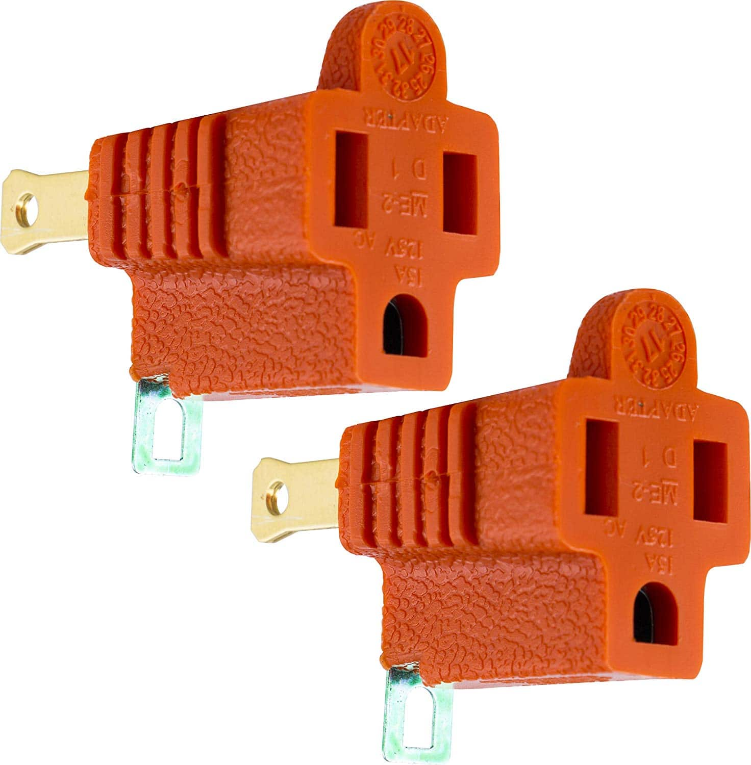 2-Count GE Polarized 2-Prong to 3-Prong Grounding Adapters for $1.69 + Free Prime Shipping