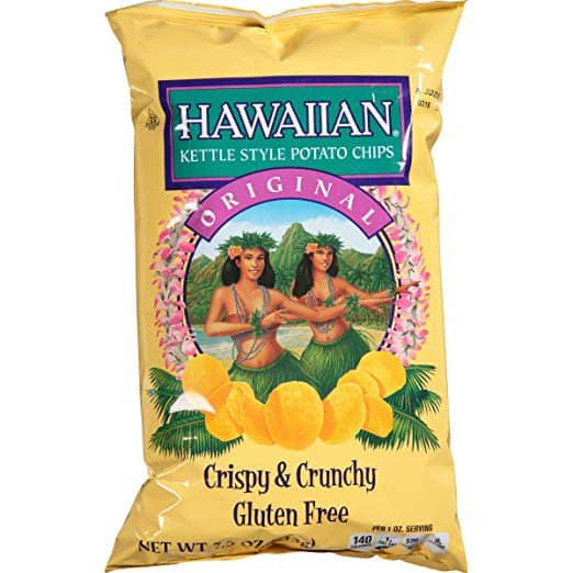 7.5-Ounce Hawaiian Kettle Style Potato Chips (Original) $1.96 w/ S&S or Free Prime Shipping