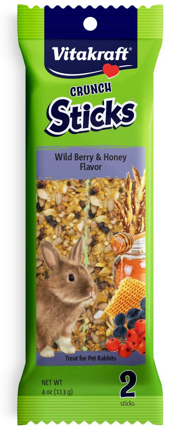 2-Count Vitakraft Wild Berry & Honey Rabbit Treat Sticks $2.32 AC w/ S&S or Prime Shipping
