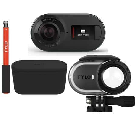 Rylo 5.8K 360 Degree Video Camera w/ 16GB microSD Card, Selfie Stick, Adventure Case & Dual-Battery Charger $298.99 + FS