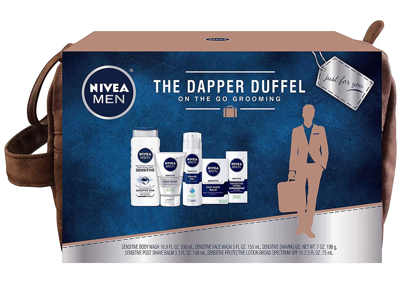 NIVEA Men Dapper Duffel 5-Piece Grooming Gift Set $11.45 AC + Free Prime Shipping