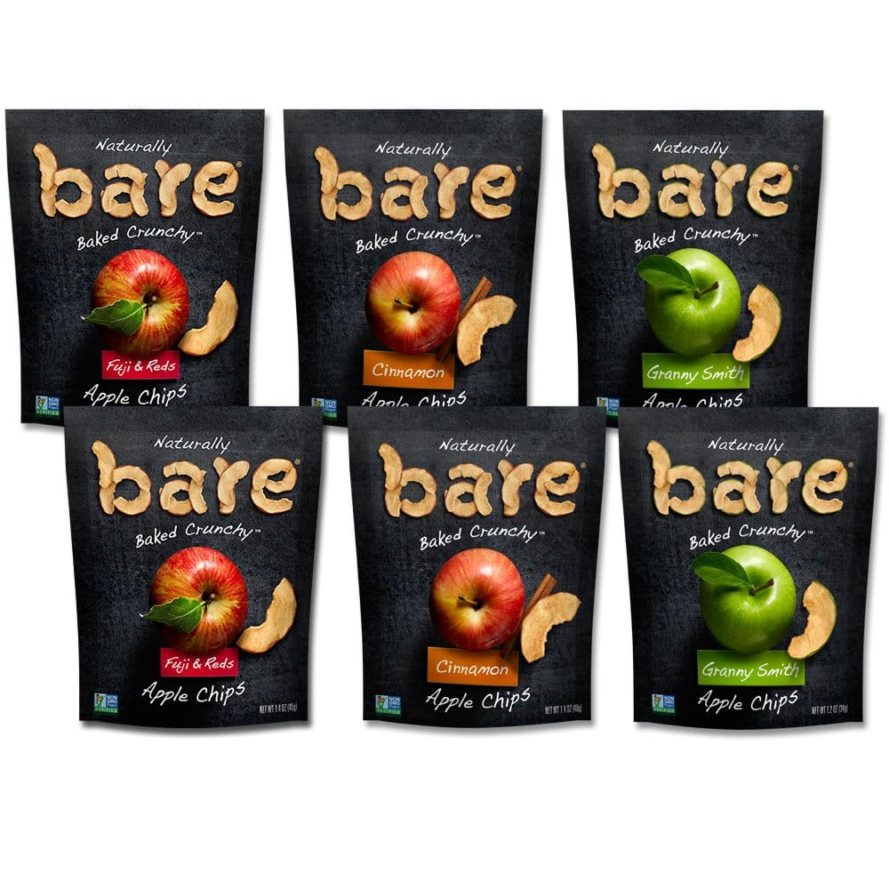 6-Pack Bare Baked Crunchy Apple Chips Variety Pack (1.2oz to 1.4oz) $4.57 AC w/ S&S