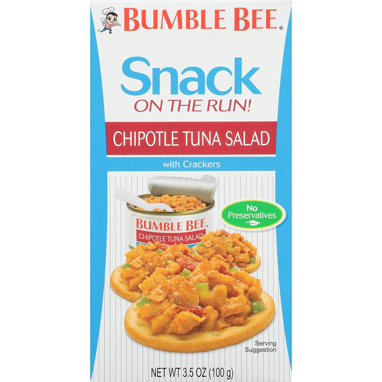 12-Pack 3.5oz Bumble Bee Snack On The Run Chipotle Tuna Salad w/ Crackers $6 w/ S&S or Free Prime Shipping