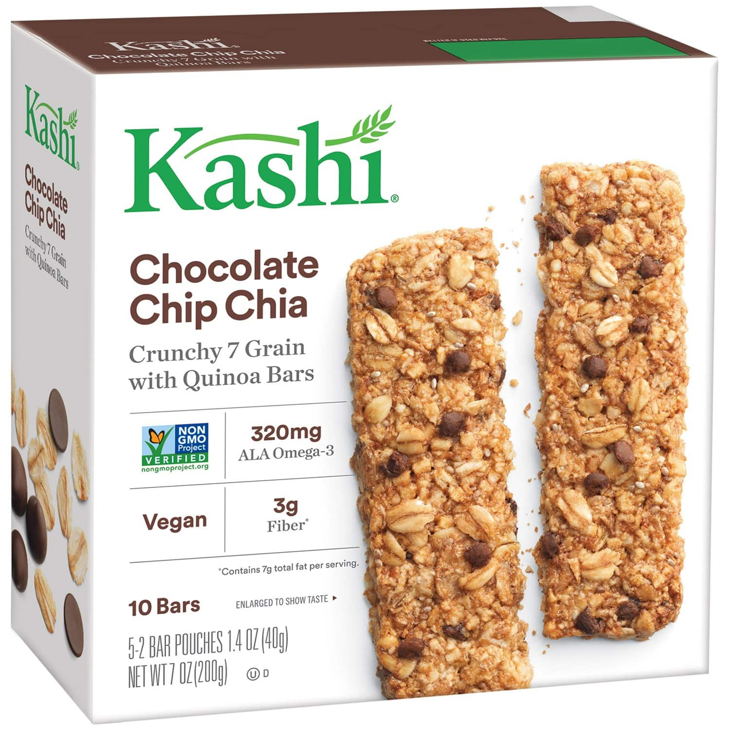 10-Count Kashi Crunchy Chocolate Chip Chia Granola Bars $1.75 w/ S&S