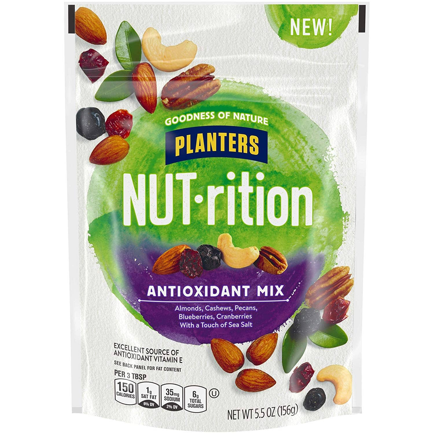 5.5oz Planters NUTrition Nut Mixes: Essential Nutrients or Antioxidant Mix $1.88 w/ S&S