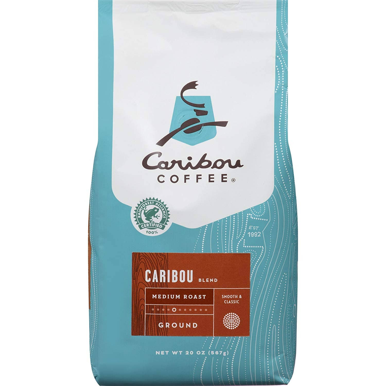 20-Ounce Caribou Coffee Caribou Blend Medium Roast Ground Coffee (Expires 05/20) $4.83 + Free Prime Shipping
