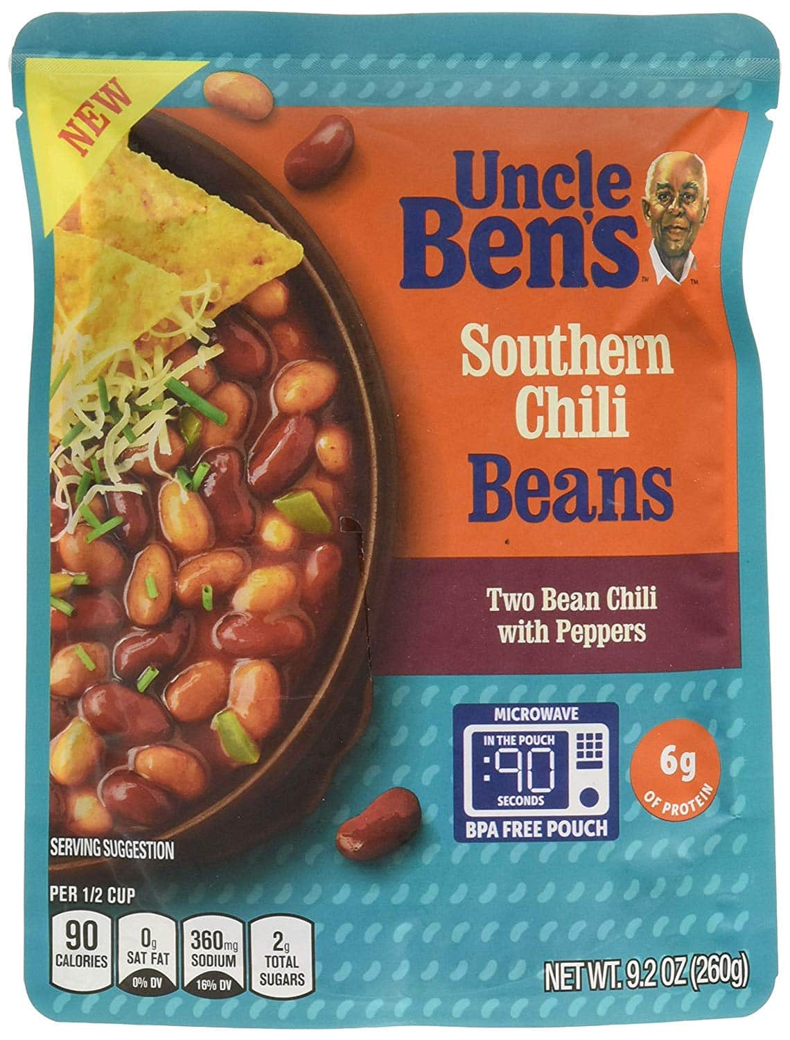 6-Pack 9.2oz Uncle Ben's Ready To Heat Beans (Pinto Kidney Chili) $5.03 w/ S&S