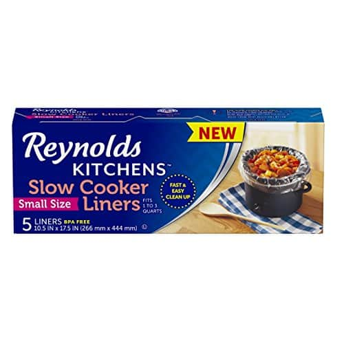 """5-Count Reynolds Kitchens Small Slow Cooker Liners (10.5"""" x 17.5"""") $1.16 w/ S&S"""