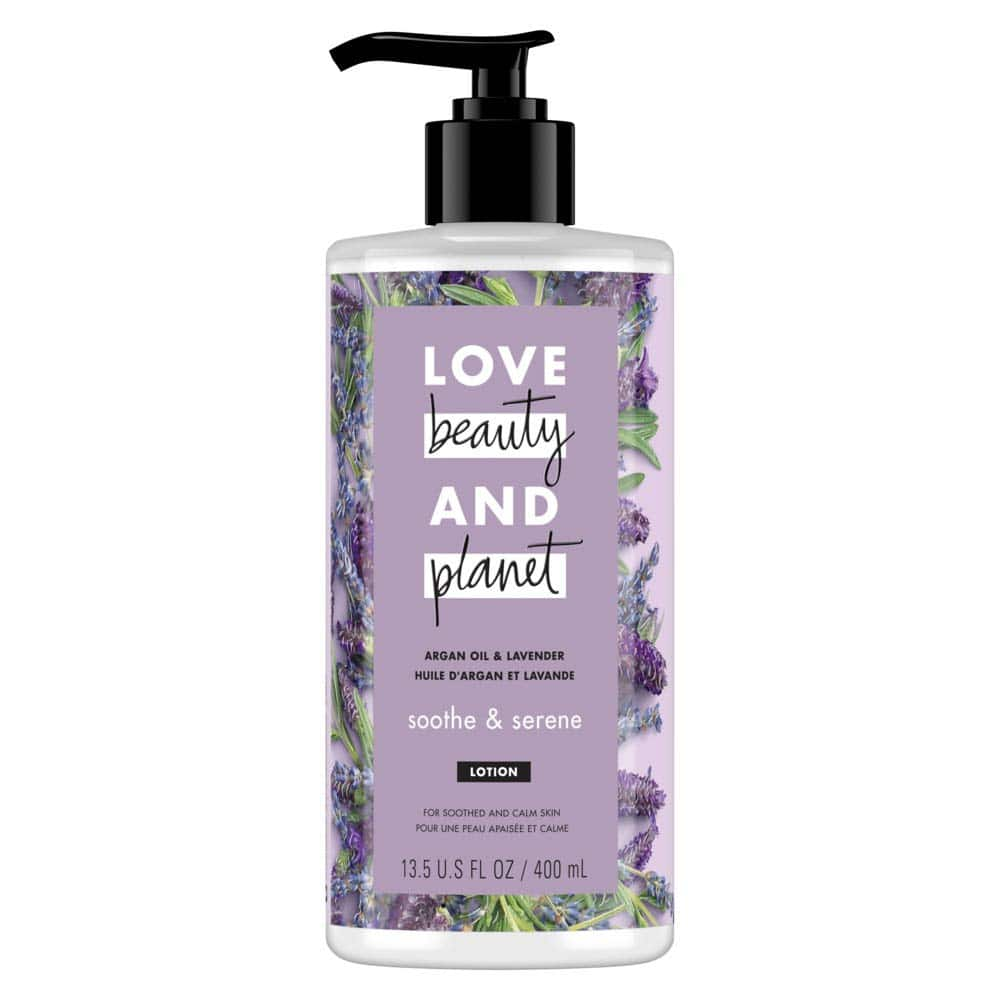 13.5oz Love Beauty And Planet Body Lotion (Argan Oil and Lavender) $2.79 + Free Prime Shipping