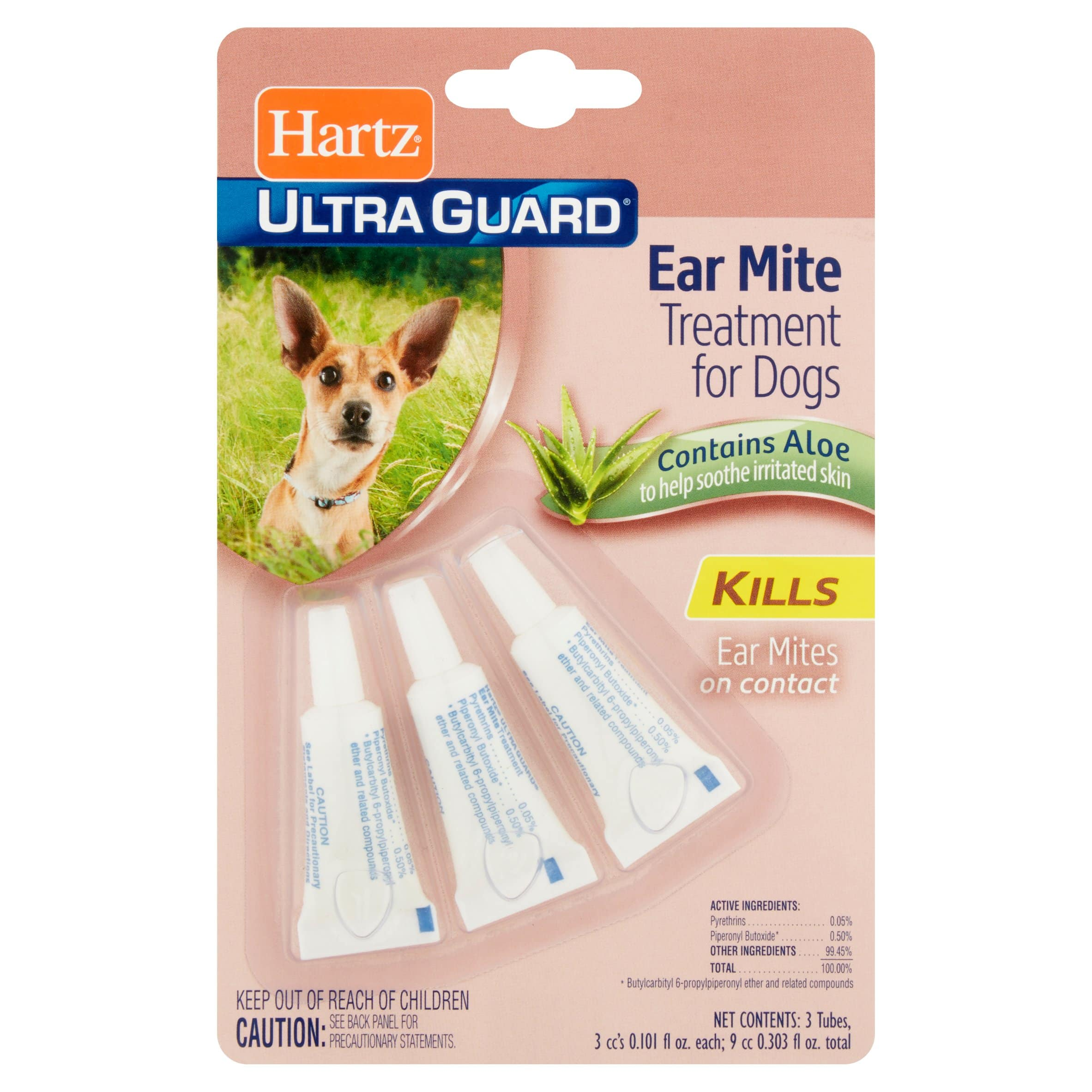 3-Count Hartz Ultraguard Ear Mite Treatment For Dogs $0.94 w/ S&S (or $0.99 at Walmart)