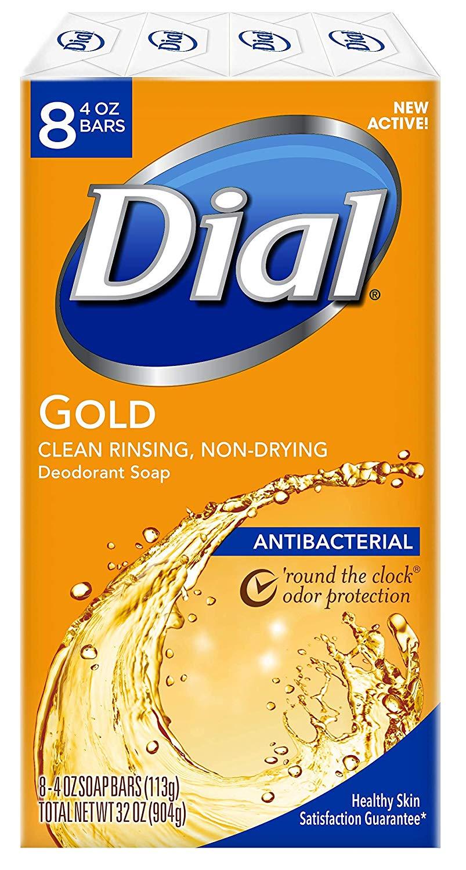 8-Pack 4oz. Dial Gold Antibacterial Bar Soap $2