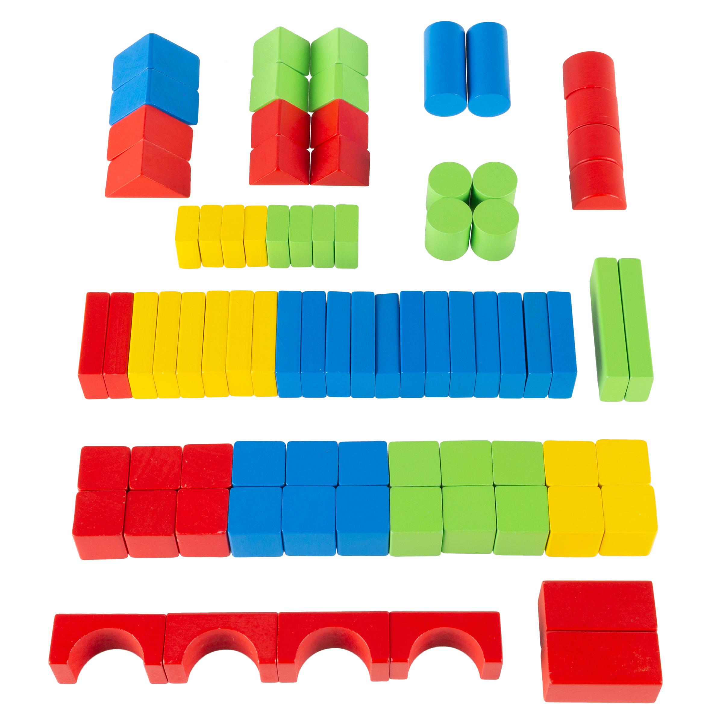 80-Piece Hey! Play! Wooden Blocks Classic Building Set w/ Storage Bag $8.99 + Free S/H on $35+