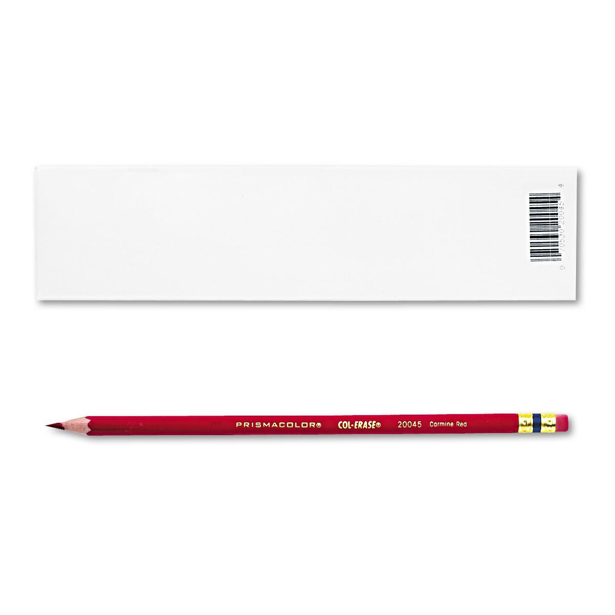 12-Count  Prismacolor Col-Erase Pencil w/Eraser (Carmine Red Lead/Barrel) 2 for $1.96 + Free S/H on $35+