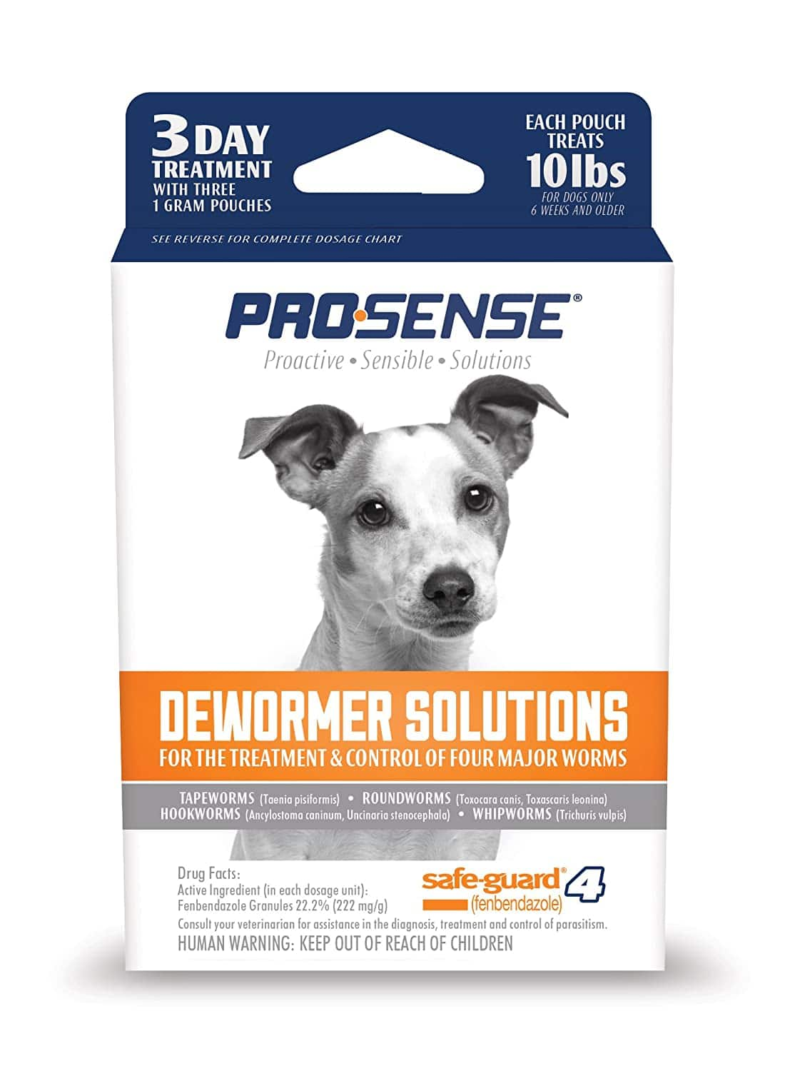 Pro-Sense Dog Dewormer Solutions: for 40lb Dogs $4, for 10lb Dogs $2 + Free Prime Shipping